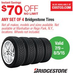 Warehouse Coupon Offers Bridgestone Tires Bridgestone Rego Park