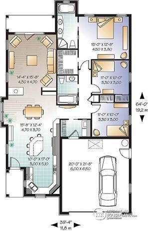Image result for 3 bedroom single storey house plans | Camino ...