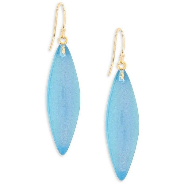 Alexis Bittar Lucite Blue Opal Drop Earrings 633 415 Idr Liked On Polyvore Featuring