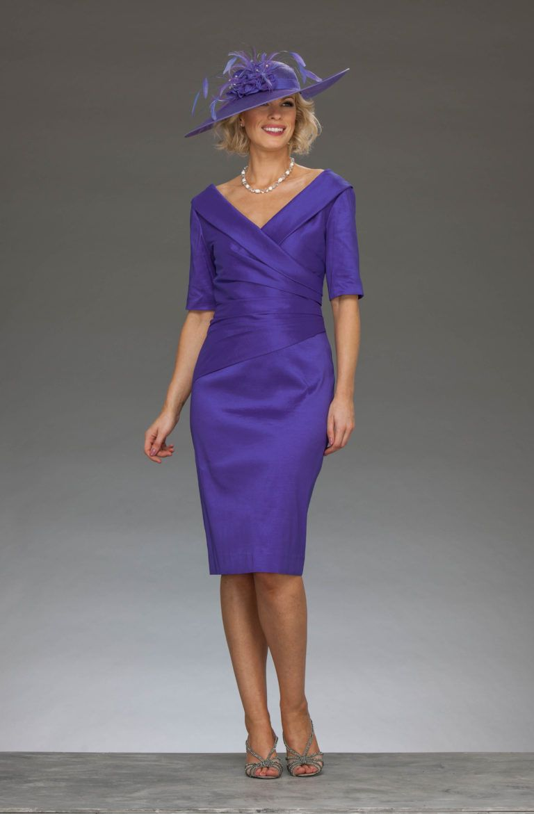 Ispirato short cross-over neck dress iw178 | Pinterest | Iris and ...
