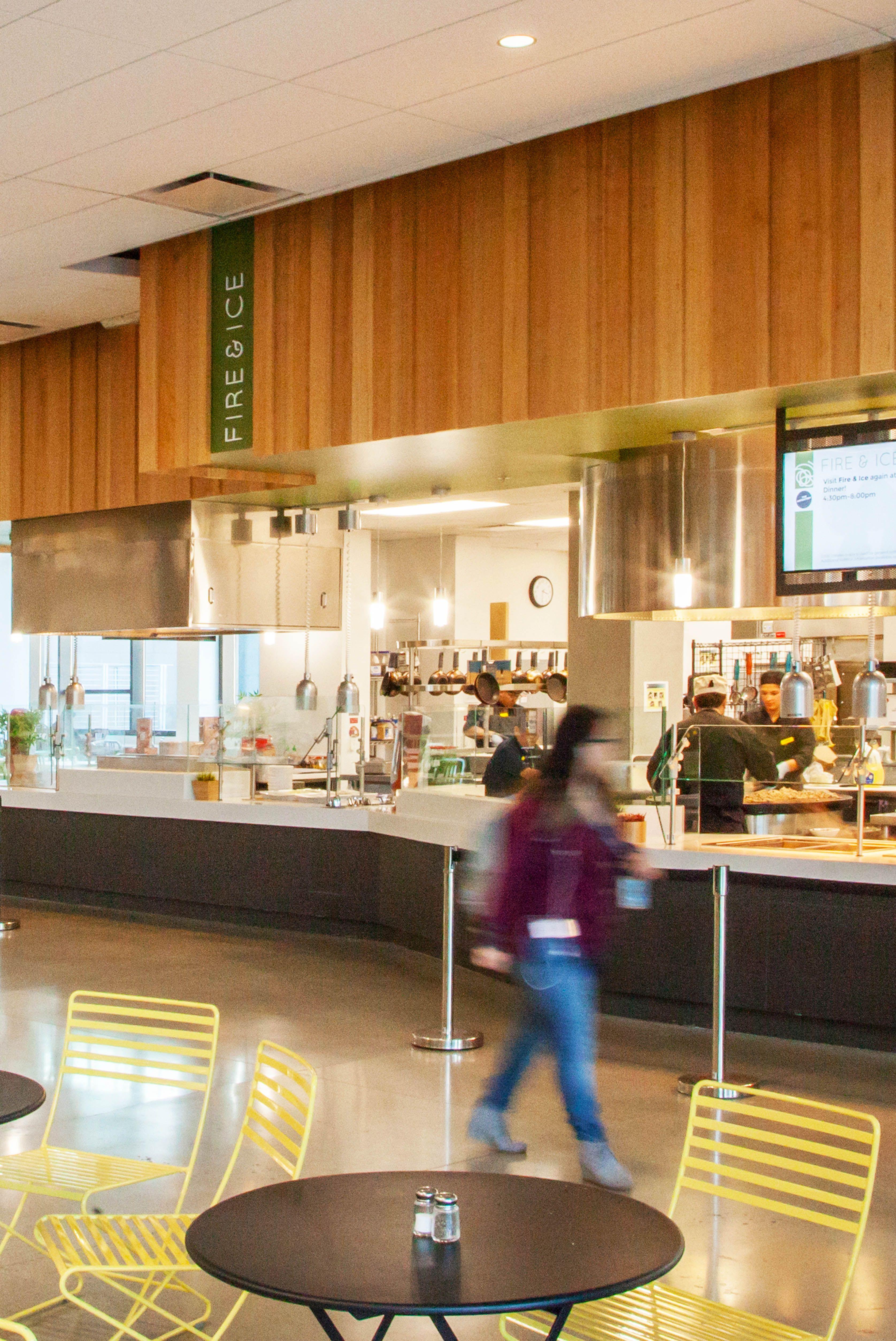 Environmental Graphic Design And Wayfinding For Uc Irvine Irvine California Campus Design Hall Interior Design Food Court Design