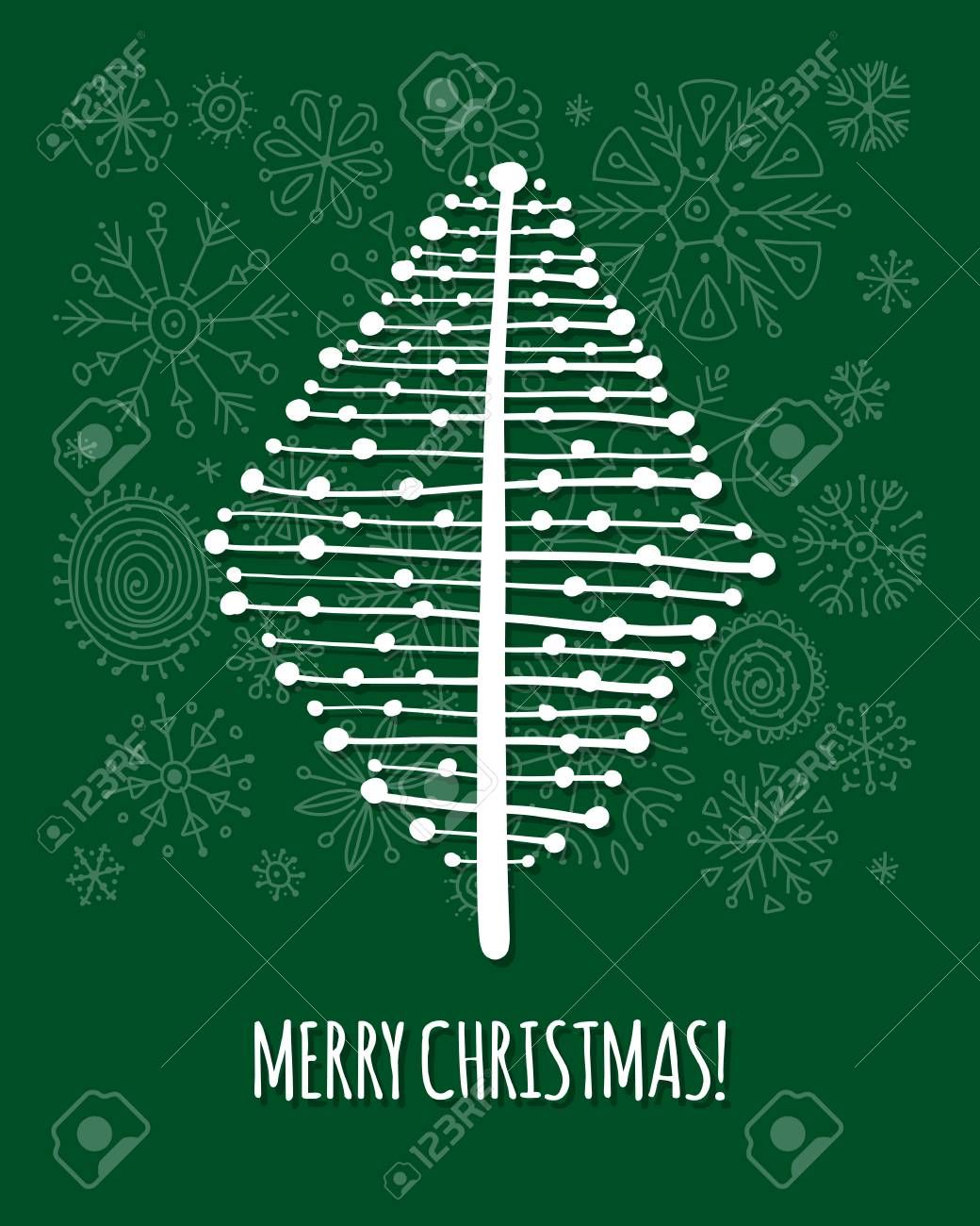 Christmas Tree Greeting Card For Your Design Vector Illustration Illustration Ad Greeting Card Christmas In 2020 Vector Illustration Art Design Illustration