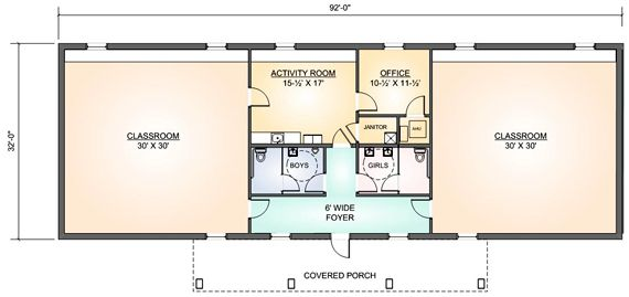 Daycare Building Floor Plans: Child Day Care Centers Floor Plans