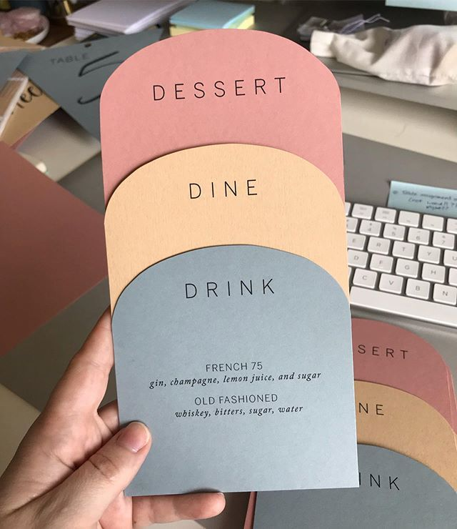 "Holly | Wedding Invitations on Instagram: ""I'm so obsessed with these menus! These are going to be part of the day-of paper to match a suite I'm sharing soon, and I'm pretty excited…"" #menus"