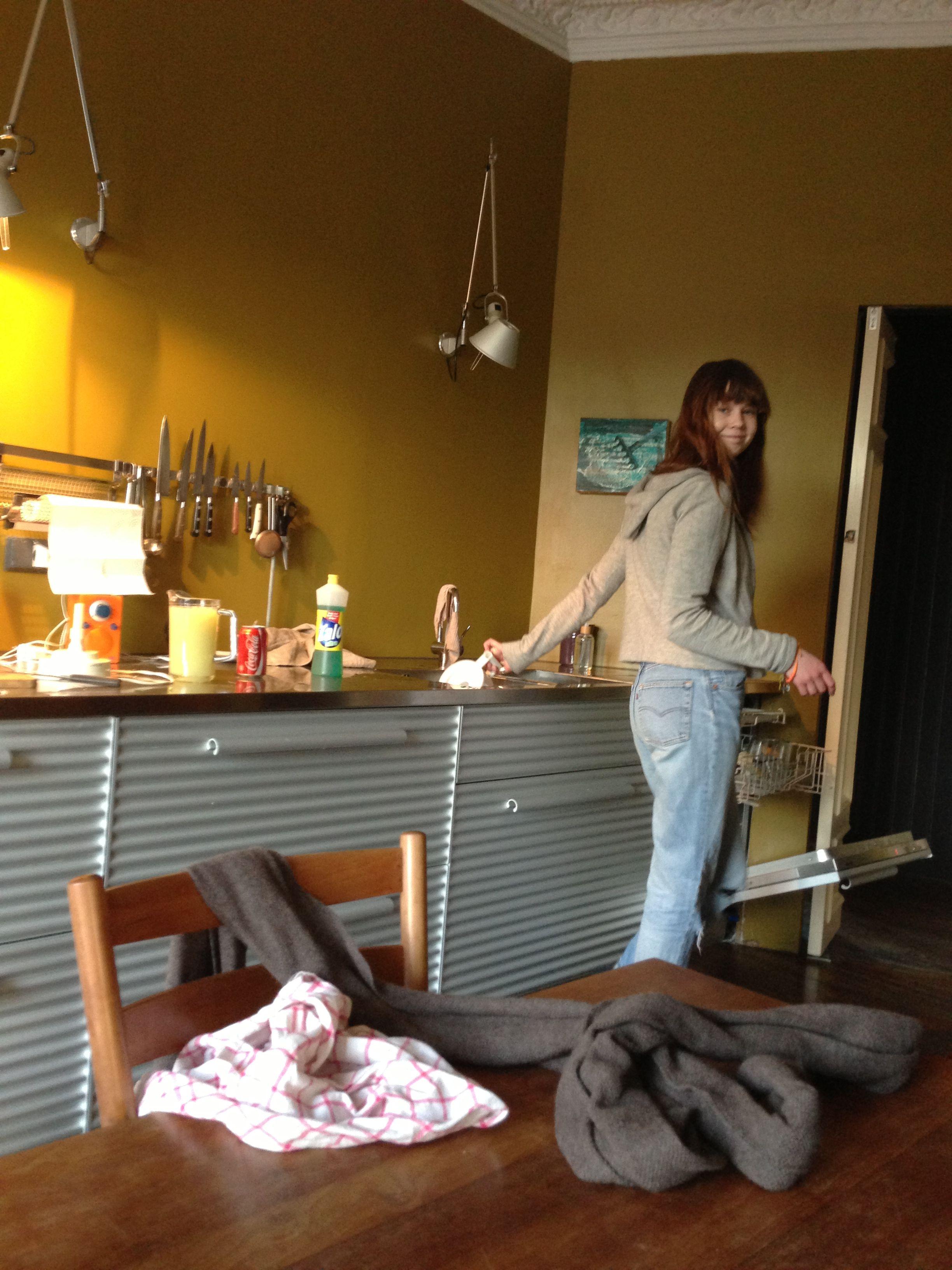 Paula making mojito