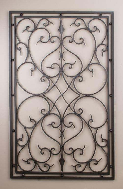 Wrought Iron Panel Wall Decor