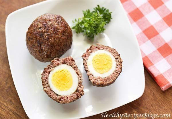 Baked Scotch Eggs #scotcheggs I use seasoned ground beef for my Scotch eggs, skip the breading, and bake them in the oven. The result is low carb, Paleo, juicy and delicious! #scotcheggs Baked Scotch Eggs #scotcheggs I use seasoned ground beef for my Scotch eggs, skip the breading, and bake them in the oven. The result is low carb, Paleo, juicy and delicious! #scotcheggs