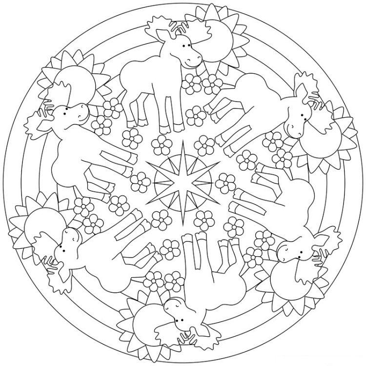 mandalas-herbst-ausdrucken-ausmalen-kinder-malvorlage-hirsch-elche ...