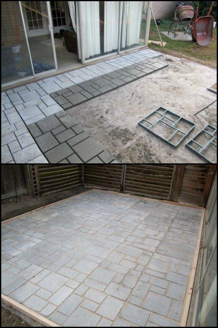DoItYourself Cement Patio Diy concrete patio, Diy