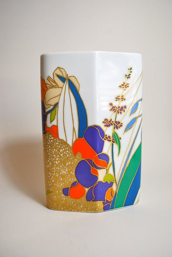 70s West German Floral Vase By W Bauer For Rosenthal Studio Linie