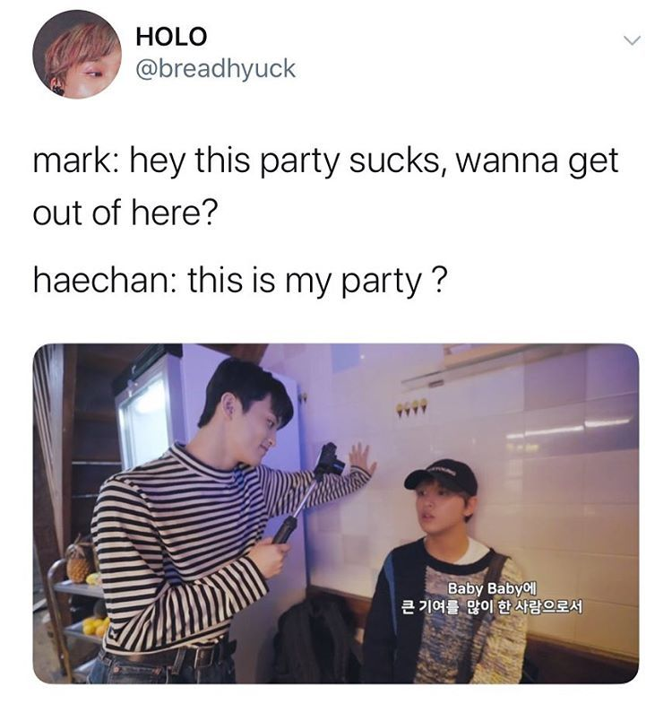 Ash Auf Instagram He Gonna Makes Haechan Cry Nct Nct Life Funny Kpop Memes