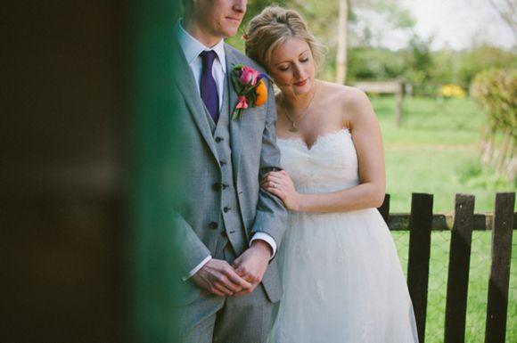 Benjamin Roberts wedding dress, orange wedding shoes, Smeetham Hall barn wedding….