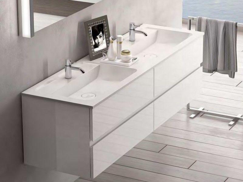 Burgbad Bel Mineralguss Doppelwaschtisch Mit Waschtischunterschrank Tiefe 487 Mm 4 Auszuge Doppelwaschtisch Waschtischunterschrank Doppelwaschtisch Mit Unterschrank