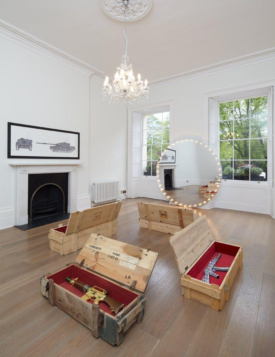 Here the installation by Antonio Riello at Salon Vert Gallery in Regent Park London UK.  Photography by ©Sylvain Deleu www.sylvaindeleu.com UK London Tel: 0044(0)7870649206