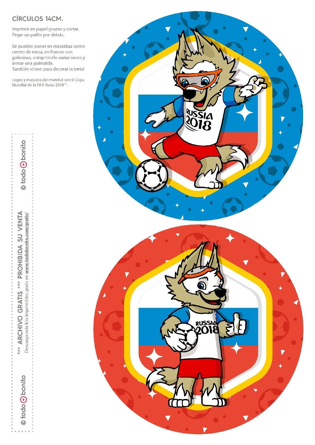 Círculos grandes. Mundial de fútbol Rusia 2018.   Mundial 2018 ...