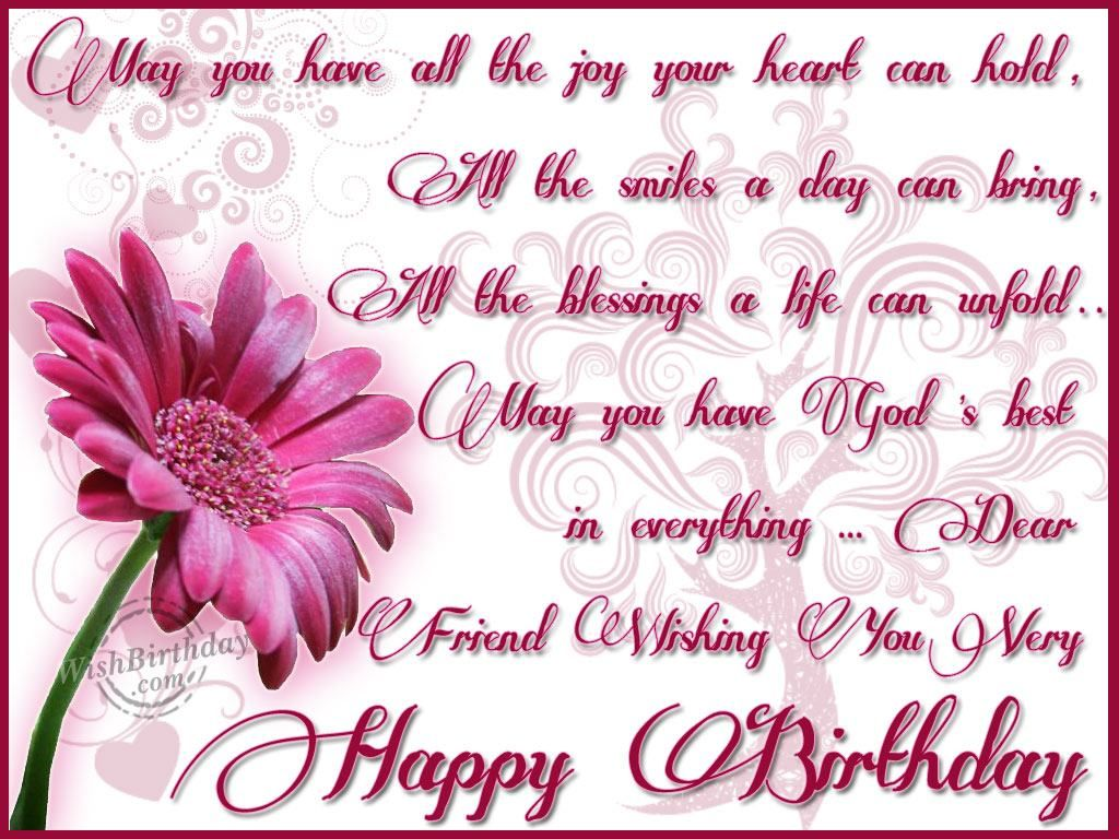 christian birthday wishes for a friend Dear Friend
