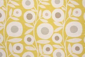 Richloom Ingrid Slubbed Cotton Drapery Fabric in Citrus