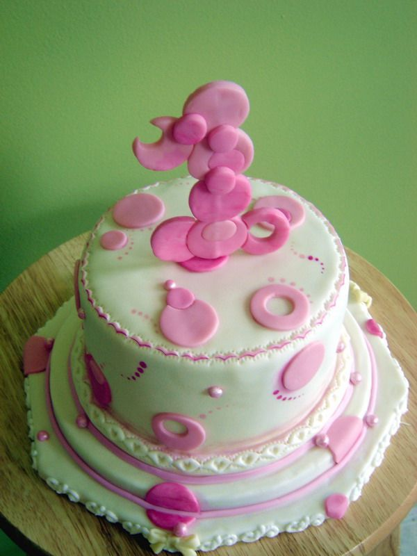 Girls First Birthday Cakes Party Pinterest Torte Di - Small first birthday cakes