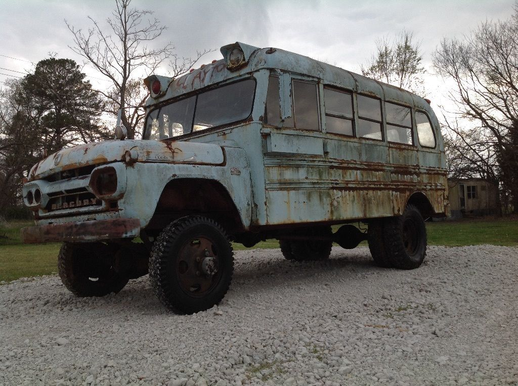 This 1960 Mercury School Bus Is Equipped With NAPCO Four Wheel Drive ...