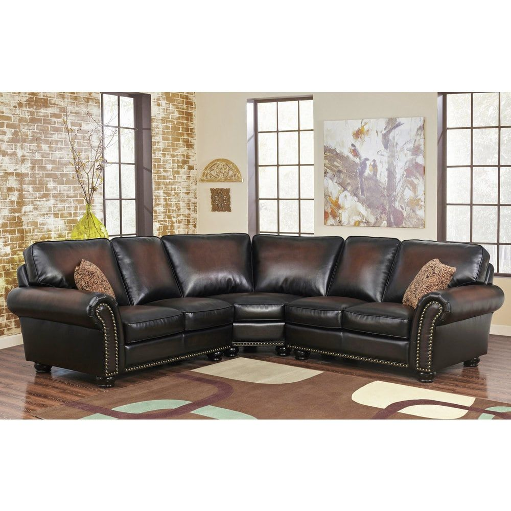 Astonishing Abbyson Melrose Bonded Leather 3 Piece Sectional Free Squirreltailoven Fun Painted Chair Ideas Images Squirreltailovenorg