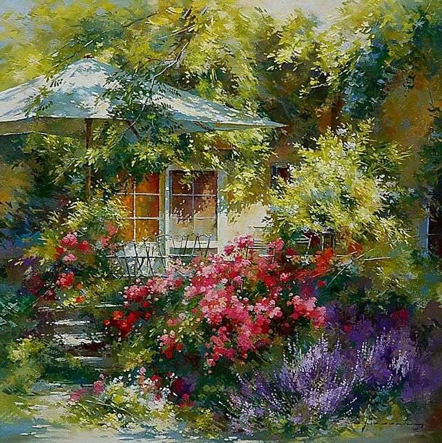 Green sunny garden from Johan Messely.   Beautiful Messely ...