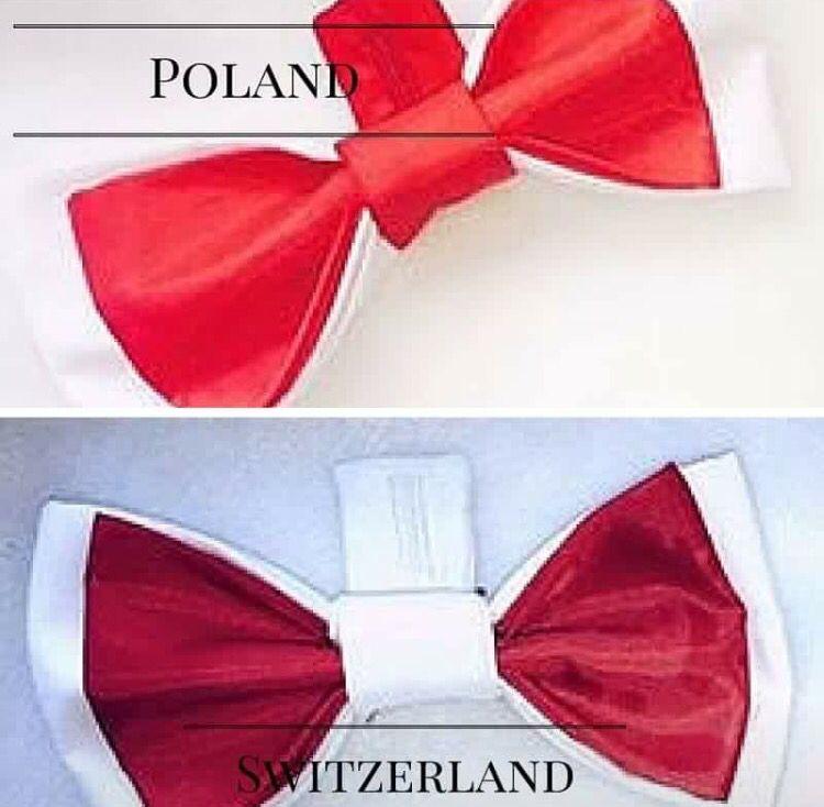Poland vs Switzerland football fan bow ties made by Betolli. #UEFA2016
