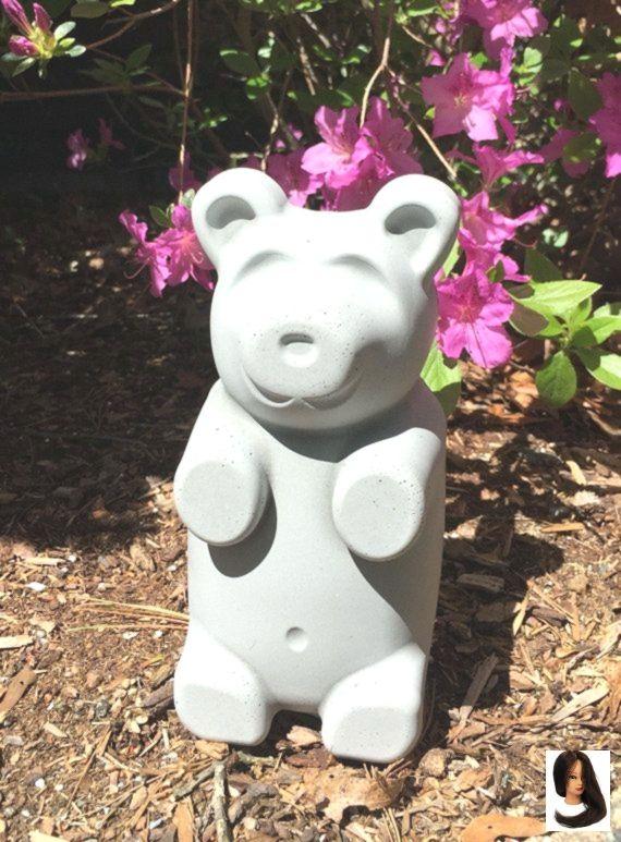 Unique cadeau de vacances Gummy Bear Béton Ciment Pierre Statue de Jardin Figure Décor Grave Memorial ou Artisanat