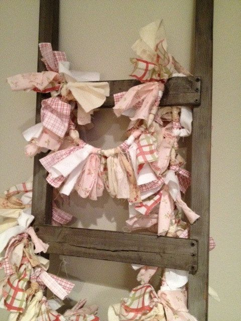 Fabric Garland Pinks by MyAlteredState on Etsy
