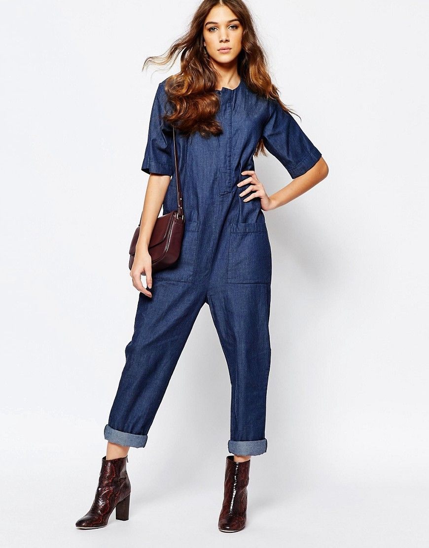 d43a659f7e Image 4 of Neon Rose Denim Relaxed Jumpsuit