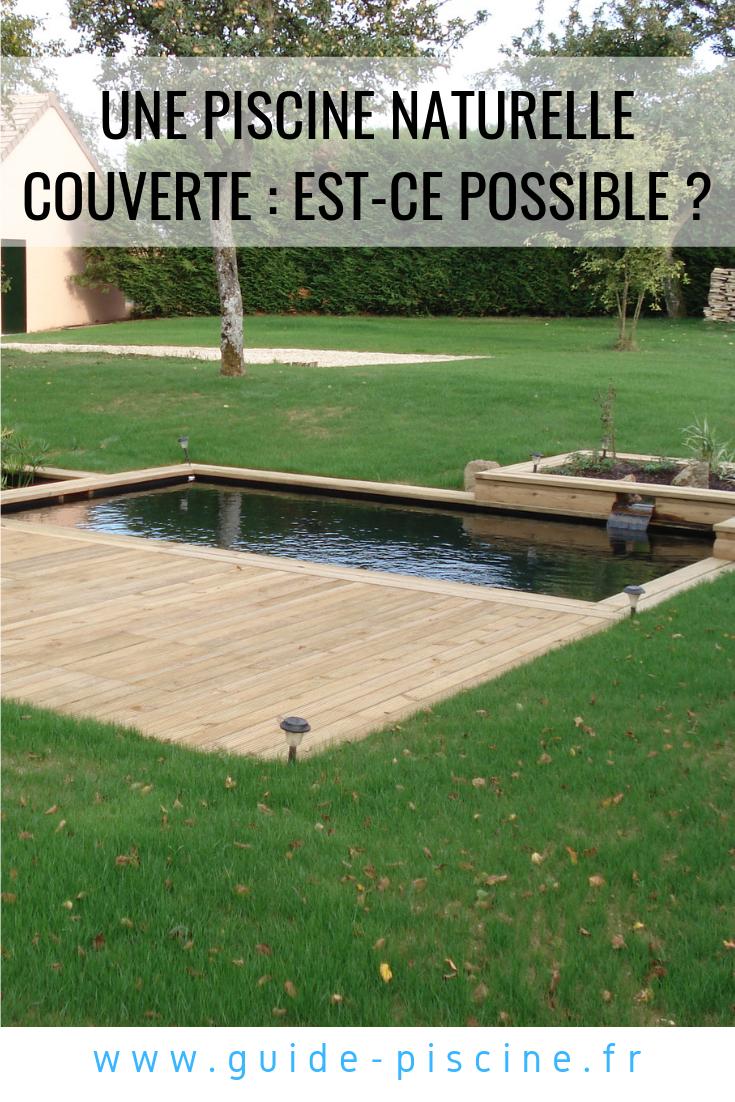 Transformer Son Bassin En Piscine une piscine naturelle couverte : est-ce possible ? | piscine