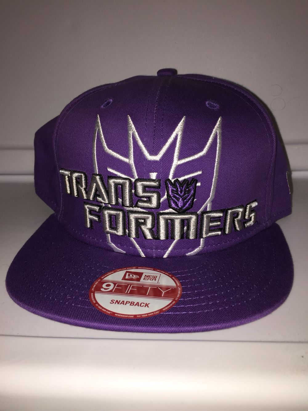 Transformers Decepticons Symbol All Purple New Era Transformers Decepticons New Era Animated Characters