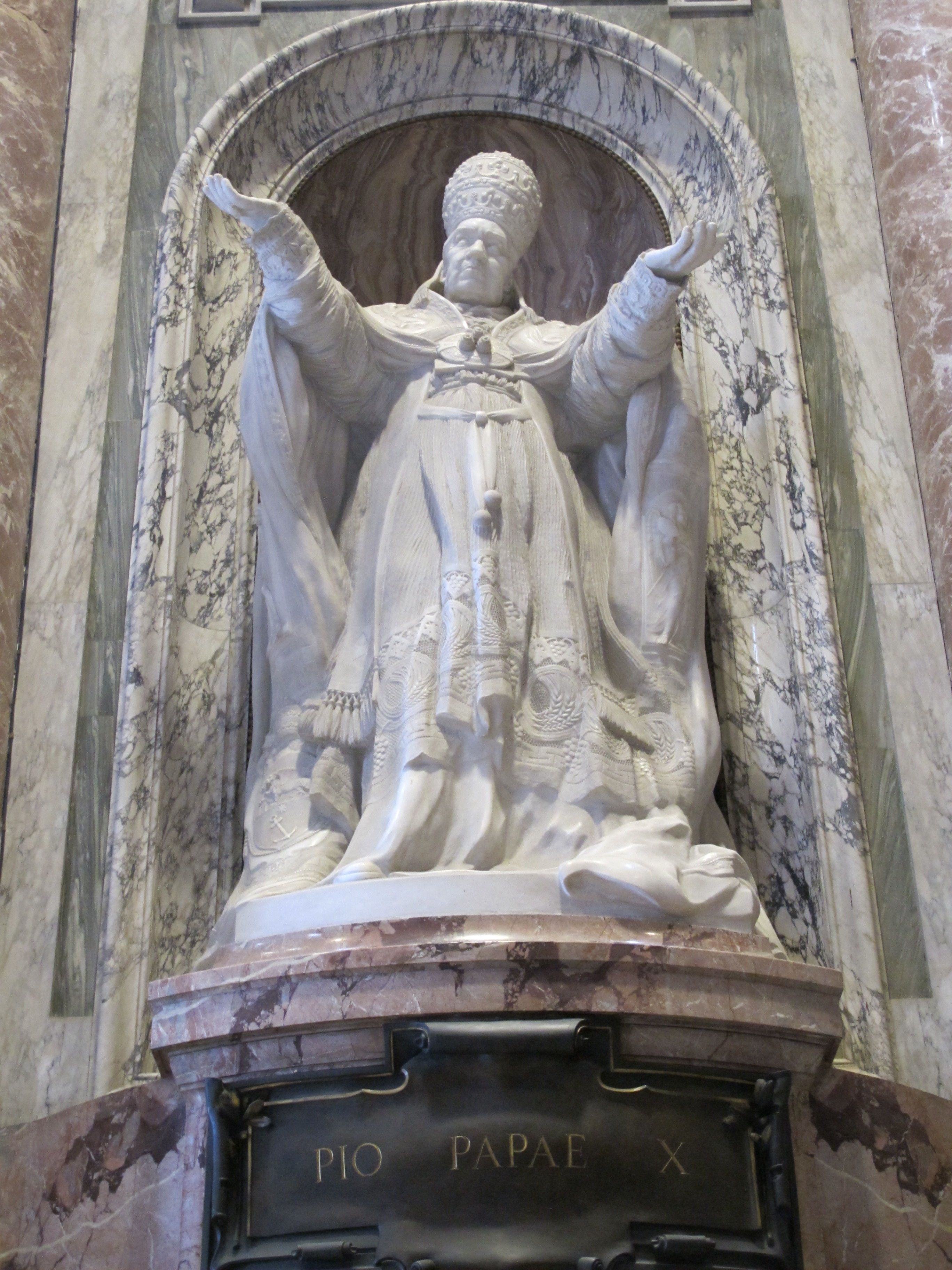 Statue of Pope Pius X In St. Peter's Basilica. Vatican