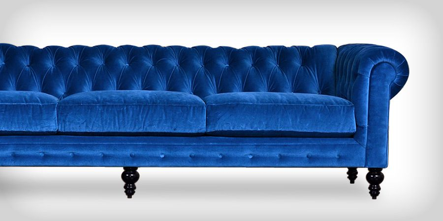 cyan blue velvet chesterfield sofa home pinterest. Black Bedroom Furniture Sets. Home Design Ideas