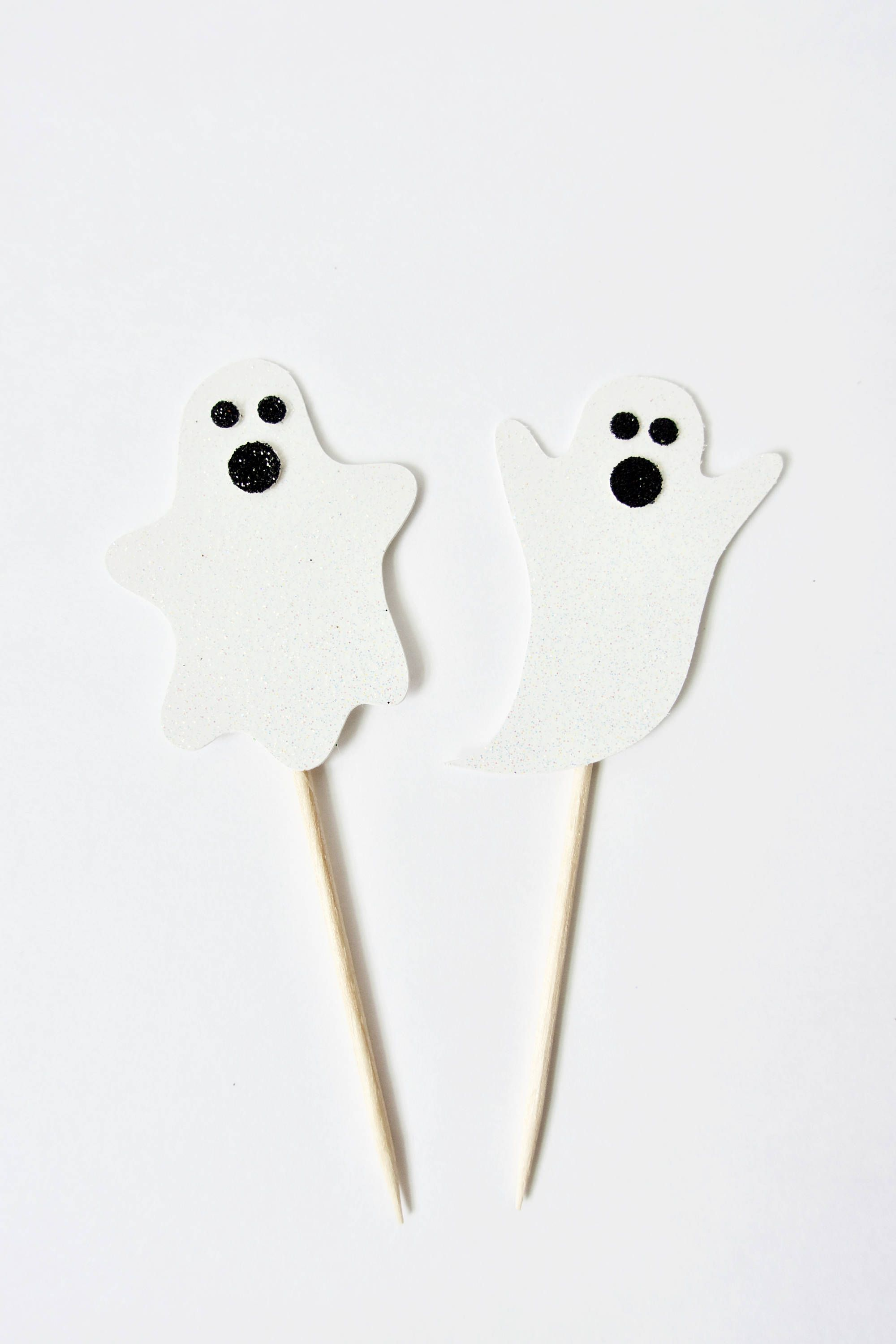 Ghost Halloween Cupcake Toppers - Halloween Party Decor, Halloween - Ghost Halloween Decorations