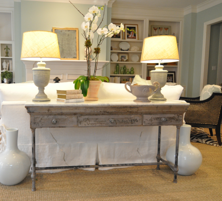 Sofa Table With Lamps   Always A Lovely Addition To A Sitting Room If There  Is Space
