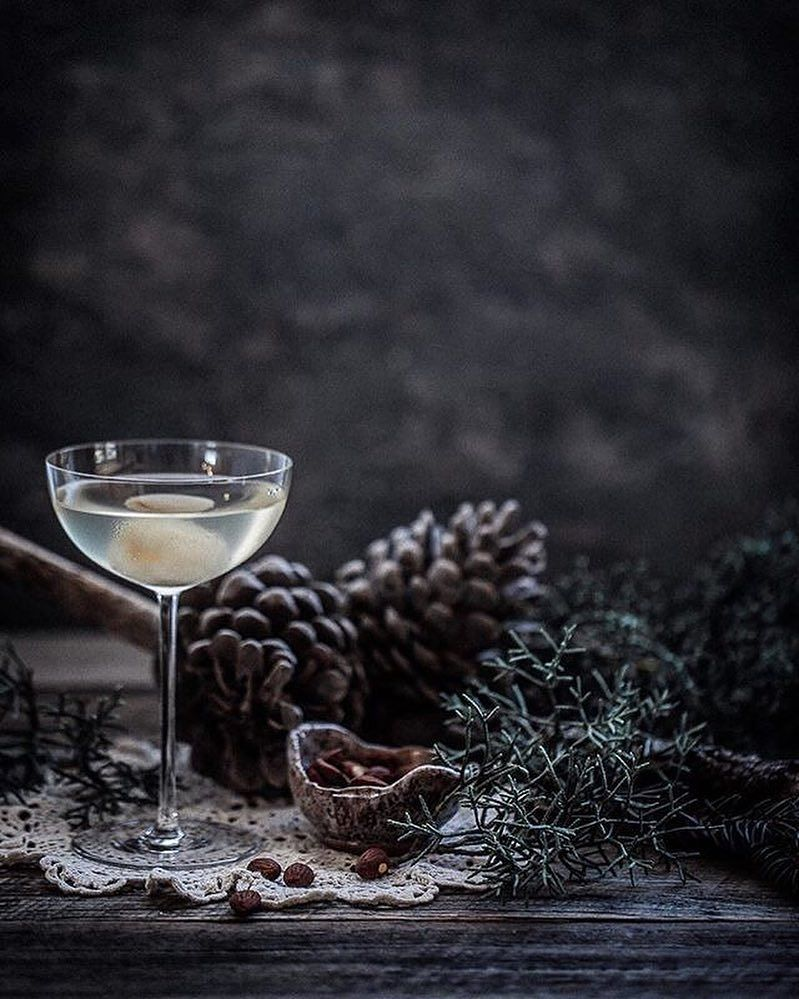 We love the winter vibes of this lychee martini in our Camille Coupe over on @anisa.sabet's insta feed. Gorgeous! #CrateCocktails #CocktailoftheWeek