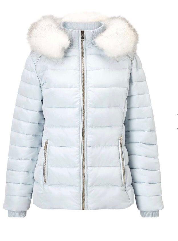adb97d50221 a baby blue quilted puffer jacket miss Selfridge.com