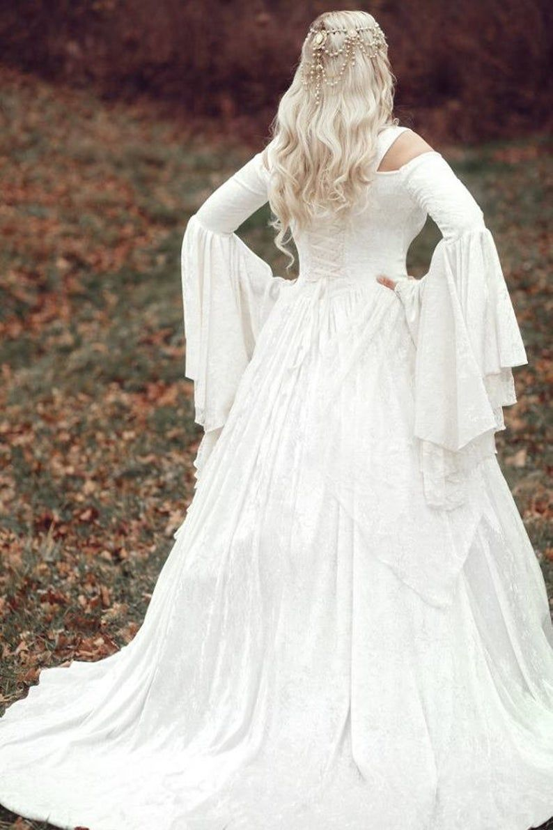 Cape Included Limited Time Custom Gwendolyn Princess Fairy Etsy In 2021 Medieval Wedding Dress Viking Wedding Dress Renaissance Wedding Dresses [ 1191 x 794 Pixel ]