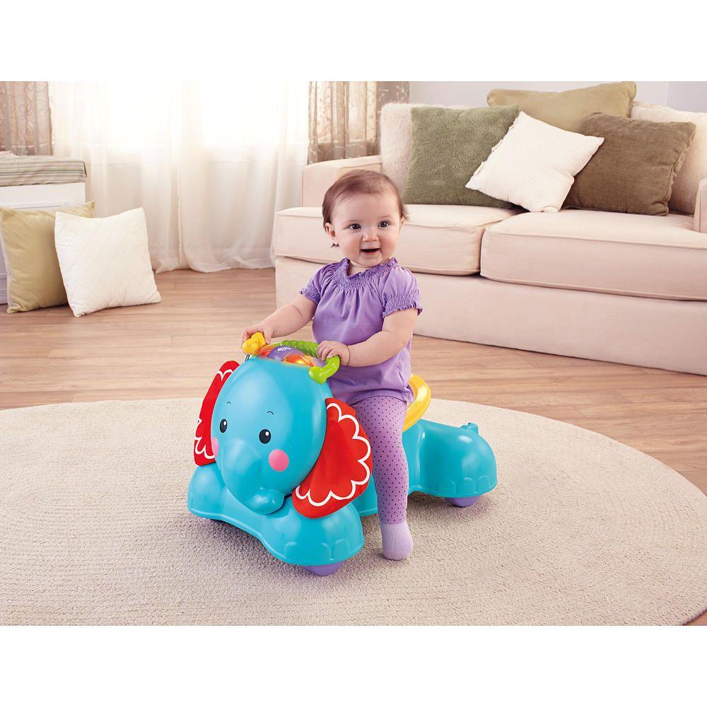 Fisherprice 3in1 bounce stride ride elephant