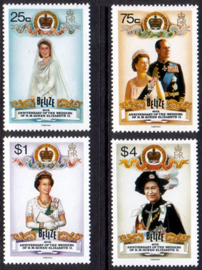 Belize 1987 Queens Ruby Wedding Set Fine Mint SG 980 3 Scott 853 6 Other West Indies Stamps Here