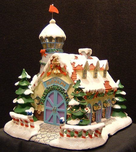 Rudolph Christmas Village.Hawthorne Village Rudolph S Christmas Town Watch Tower And