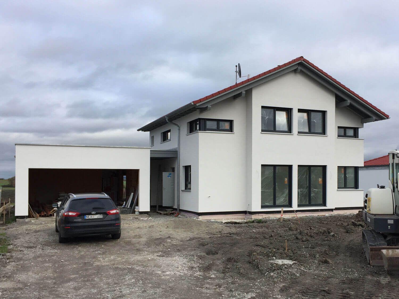 KfW-Effizienzhaus 40 Plus, 1,0 - Liter-Haus, 24er Ständer, Styrodurdämmung 14 cm unter der