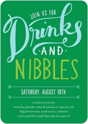 Drinks and Nibbles - Corporate Event Invitations - Petite Alma - Baltic - Blue : Front