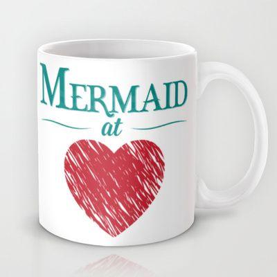 Kitchen//Mug Rack//Mermaid at Heart Mug by Emily Anne Design