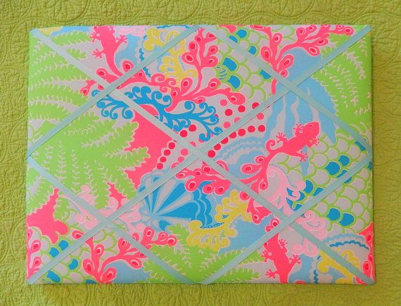 New Memo Board Made With Lilly Pulitzer Blue Checking By Jlmyakima Interesting Lilly Pulitzer Memo Board