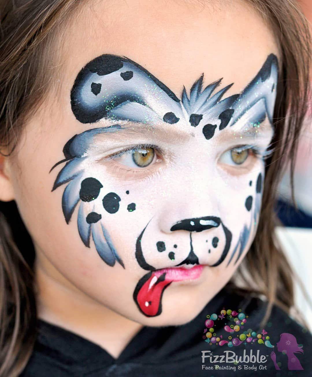 Jo Bertram On Instagram Black And White Pup Fizzbubble Facepaint Facepainter Facepaint Dog Face Paints Face Painting Designs Animal Face Paintings