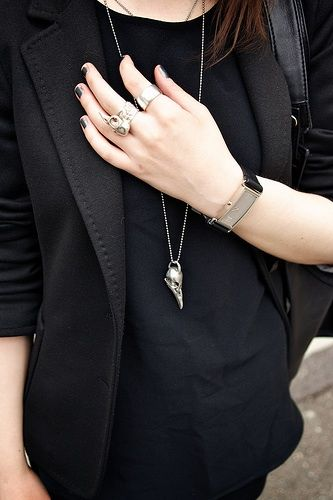black on black + accessories.