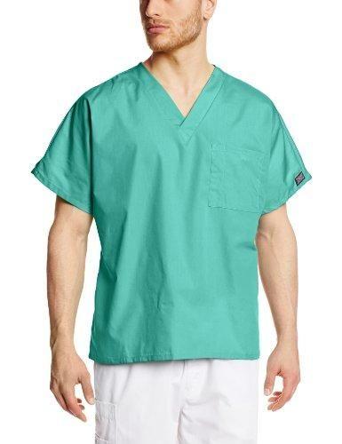 91a6195117e Cherokee Workwear Scrubs Unisex V-neck Tunic Top, Surgical Green, Medium