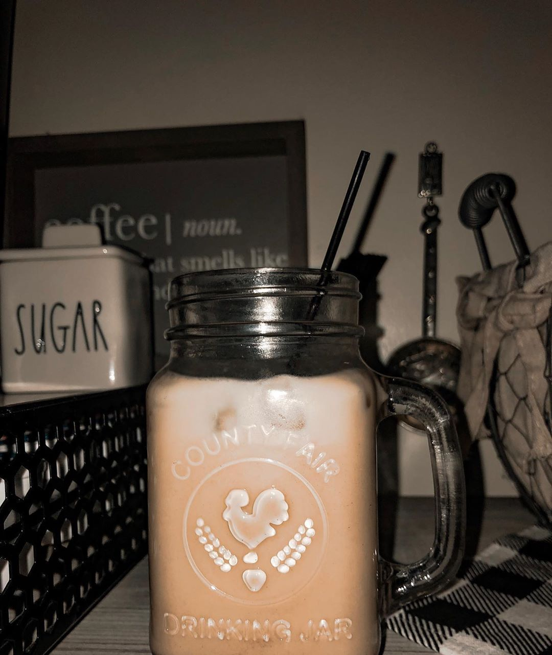 Iced French vanilla latte, but I didn't do the foam on top. I brewed espresso for 1/3 of the cup, added French vanilla creamer, and then added ice. Super simple iced coffee recipe, and good if you want stronger tasting coffee. . . . . #coffee #latte #icedcoffee #frenchvanilla #farmhousestyledecor #farmhouse #farmhousedecor #decor #style #presets #presetparlor #mom #momlife #wife #wifelife #boymom #yum #recipe #recipes #simplerecipe #espresso #frenchvanillacreamerrecipe Iced French vanilla latt #frenchvanillacreamerrecipe
