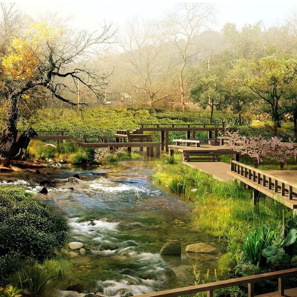 3d Art Garden 3d Art Ipad Background Ipad Backgrounds Ipad Wallpapers